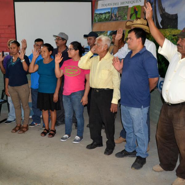 Reestructuración y Juramentación del comité Un pueblo Un producto de Meanguera