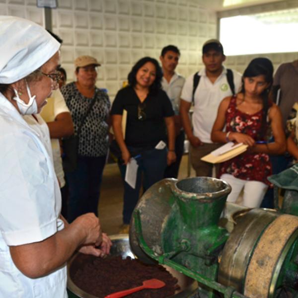 Intercambio de experiencia de la producción y venta del Cacao en el Salvador; Municipio de Ciudad Barrios