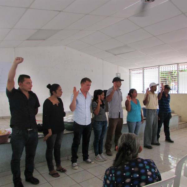 Juramentación de Junta Directiva de CDL de San Antonio del Mosco - AACID