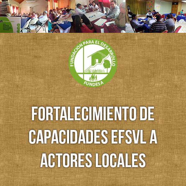 Fortalecimiento de capacidades EFSVL a actores locales