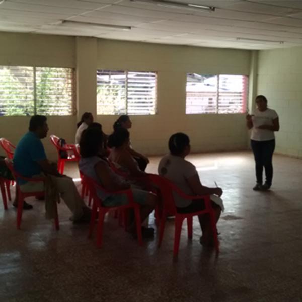 Proceso de formación a ADESCOS participantes en el proyecto
